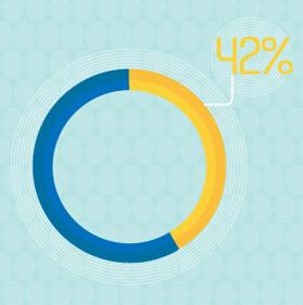 오로지 전체적인 디자인만으로 웹사이트를 평가하는 소비자들의 비율 42%