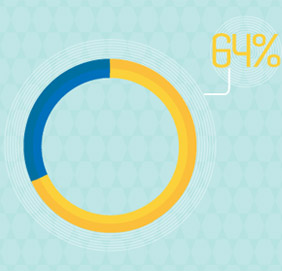 웹사이트가 너무 느려서 구매를 포기한 온라인 쇼핑객들의 비율 64%
