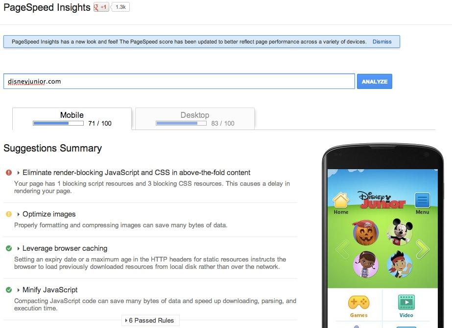 구글의 페이지스피드 인사이트(PageSpeed Insights)는 그들이 제안하는 우선순위를 표시하고자 정지 신호의 컬러 코딩을 따른다.